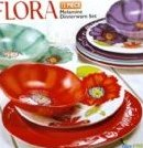 Flora: 12PC Melamine Dinnerware Set by Laurie Gates