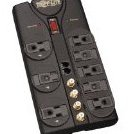 Tlp810sat 8-Outlet Surge Protector 3240 Joules Tel/DS by Tripp Lite