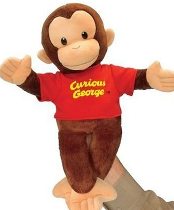 16-Inch Curious George Hand Puppet by Russ Berrie