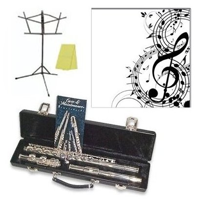 2SP Silver Plated Flute Outfit Includes a  8quot; x by Gemeinhardt