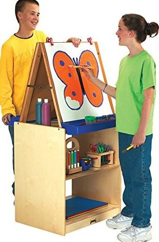 02891jc 2 Station Easel - School AGE by Jonti-Craft