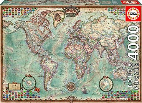 4000 Piece Puzzle - The World Map by Educa