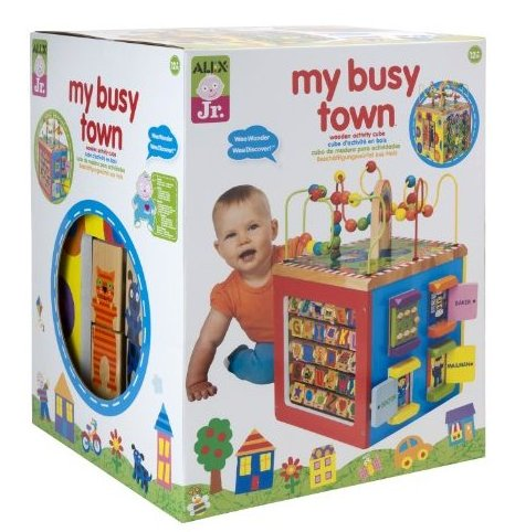 ALEX Jr. My Busy Town Wooden Activity Cube by ALEX Toys