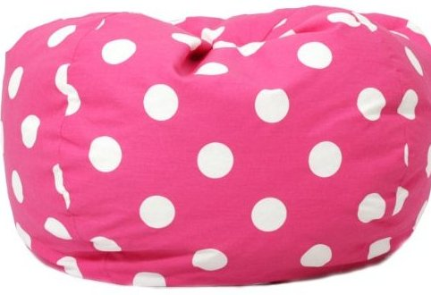 Classic Bean Bag Chair Candy Pink Polka Dot by Big Joe