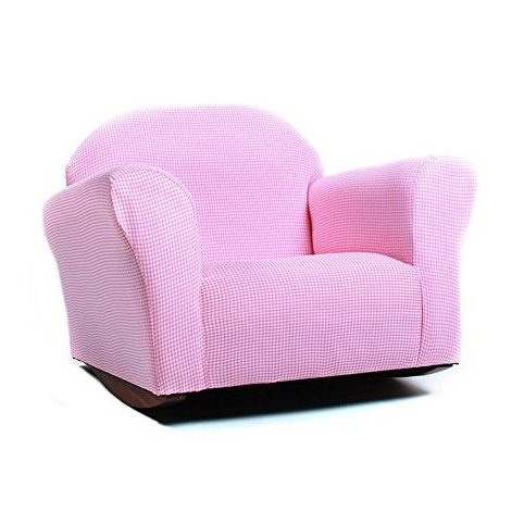 KEET Roundy Rocking Kids Chair Gingham Pink by Keet