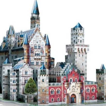 Neuschwanstein Castle 3D Jigsaw Puzzle 890-Piece by Wrebbit 3D