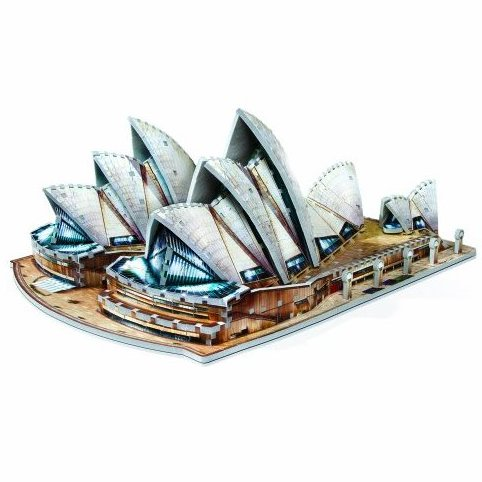 Sydney Opera House 925-Piece by Wrebbit 3D