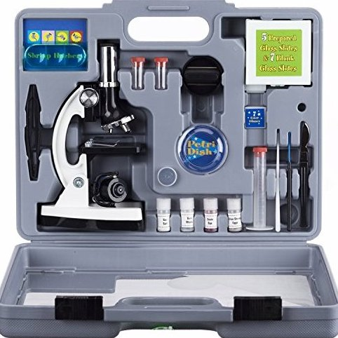 Amscope-KIDS M30-ABS-KT2-W Beginner Microscope Kit LED and by AmScope