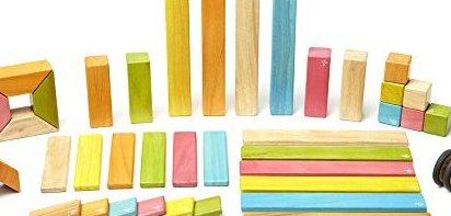 42 Piece  Magnetic Wooden Block Set Tints by Tegu
