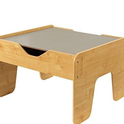 2-in-1 Activity Table with Board Gray/Natural by KidKraft