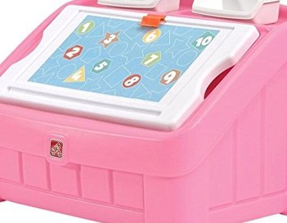 2-in-1 Toy Box and Art Lid Pink by Step2