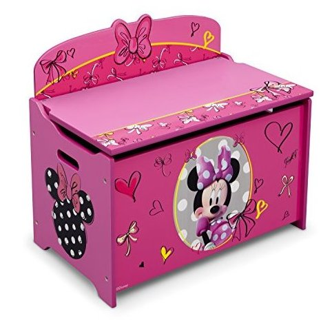 Deluxe Toy Box Disney Minnie Mouse by Delta Children