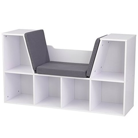 Bookcase with Reading Nook Toy White by KidKraft