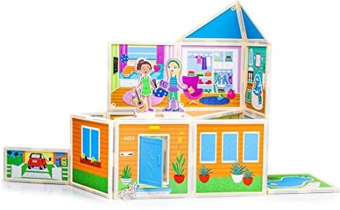 : Malias House award-winning magnetic dollhouse y by Build  Imagine