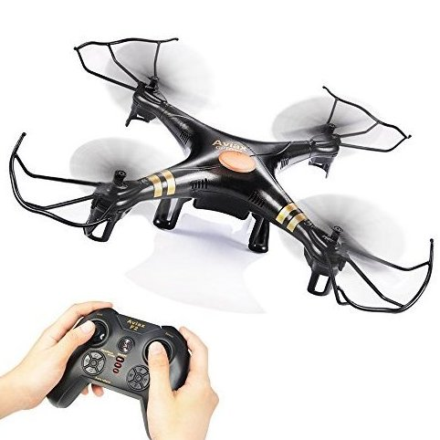Black Aviax 2.4GHz 6-Axis GYRO RC Quadcopter Drone with Hea by Gptoys