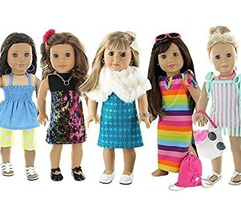 28 Piece Holiday Lot Fits 18-Inch American Gi by Doll Club of America