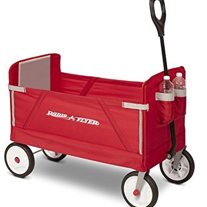 3-in-1 EZ Fold Wagon Ride On Red by Radio Flyer