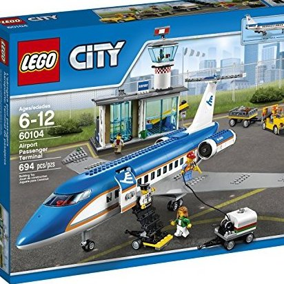 City Airport 60104 Airport Passenger Terminal Building Kit 6 by LEGO
