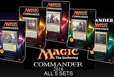 Commander 2016 MTG Magic The Gathering SET OF by Magic: the Gathering
