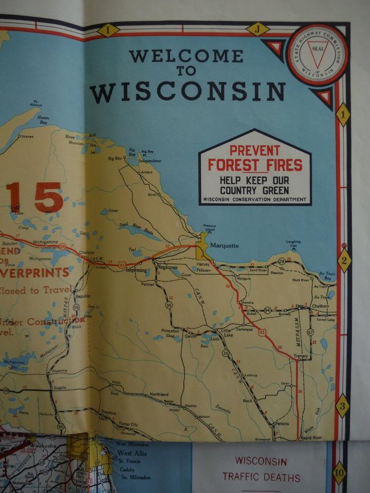 1959 Welcome to Wisconsin Highway Map