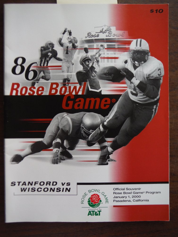 86th Rose Bowl Game Official Souvenir Rose Bowl Game Program Stanford vs. Wiscon