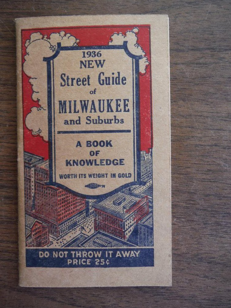 1936 New Street Guide of Milwaukee