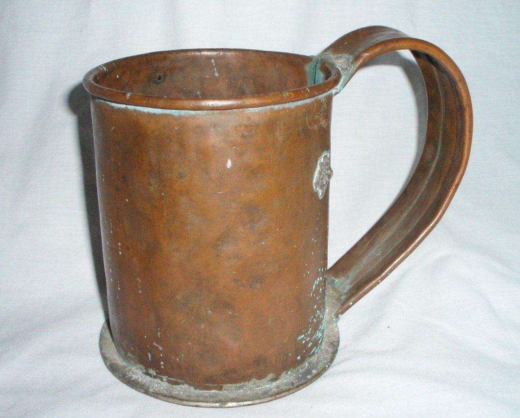 30 oz. antique copper stein mug flagon cup drinkware