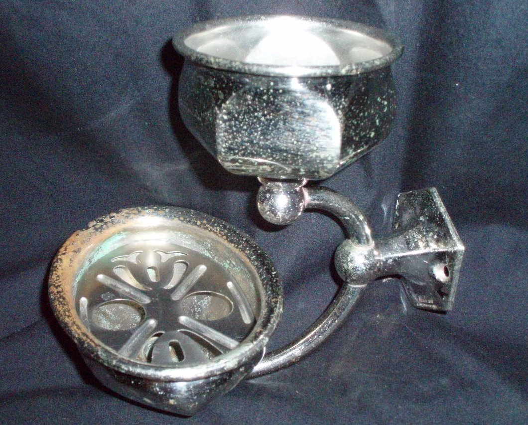 antique victorian cup and soap wall mount sink accessories