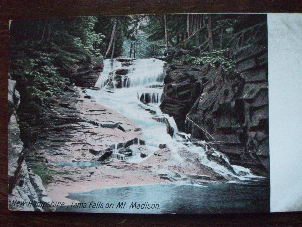 Image 0 of Antique Postcard Tama Falls Mt. Madison NH 1900