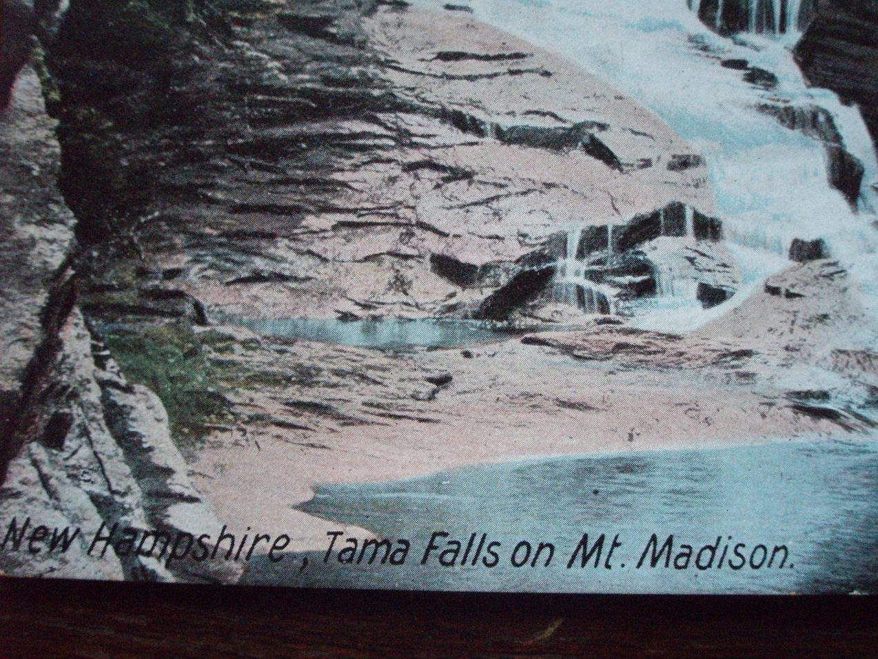 Image 1 of Antique Postcard Tama Falls Mt. Madison NH 1900