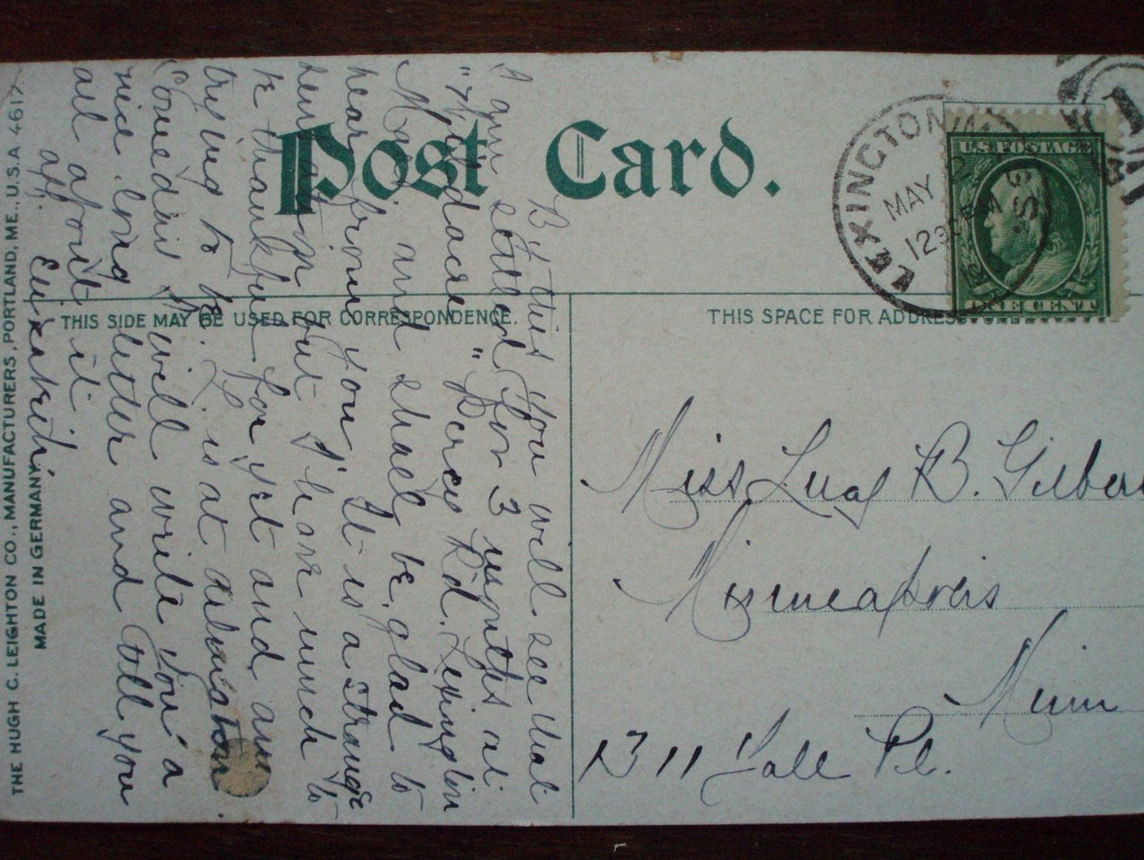 Image 3 of Antique Postcard Tama Falls Mt. Madison NH 1900
