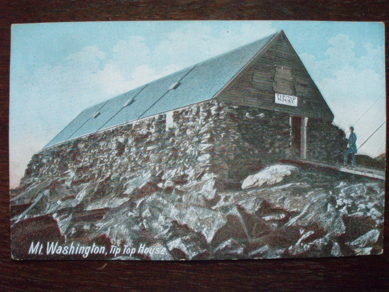 Antique Postcard Mt. Washington Tip Top House 1900