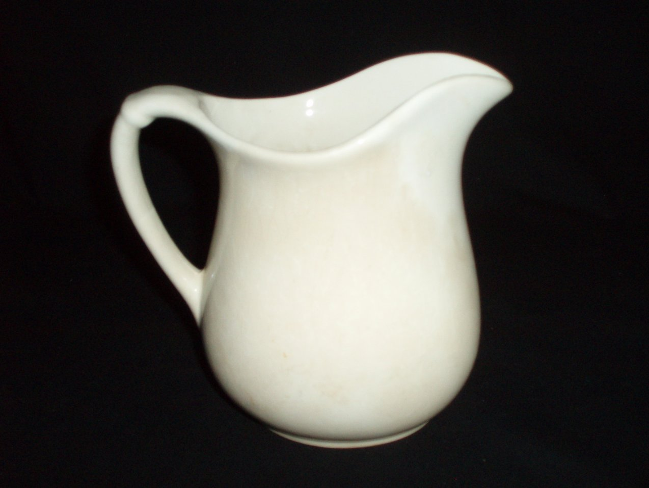 Antique Ironstone white Pottery Pitcher 45 oz.