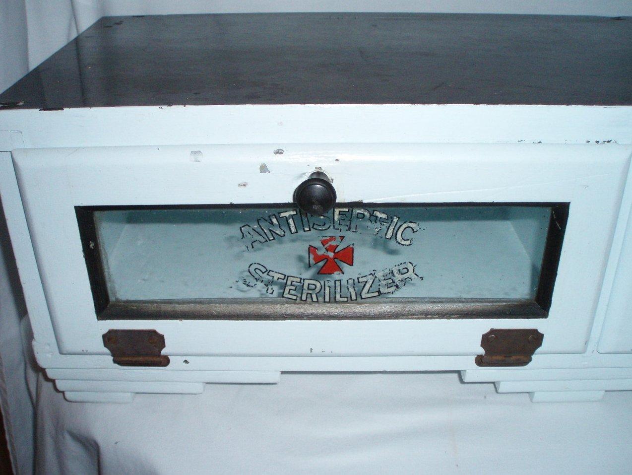 Barber Road Storage : Image 2 of Barber Shop cabinet Display shelf cupboard vintage