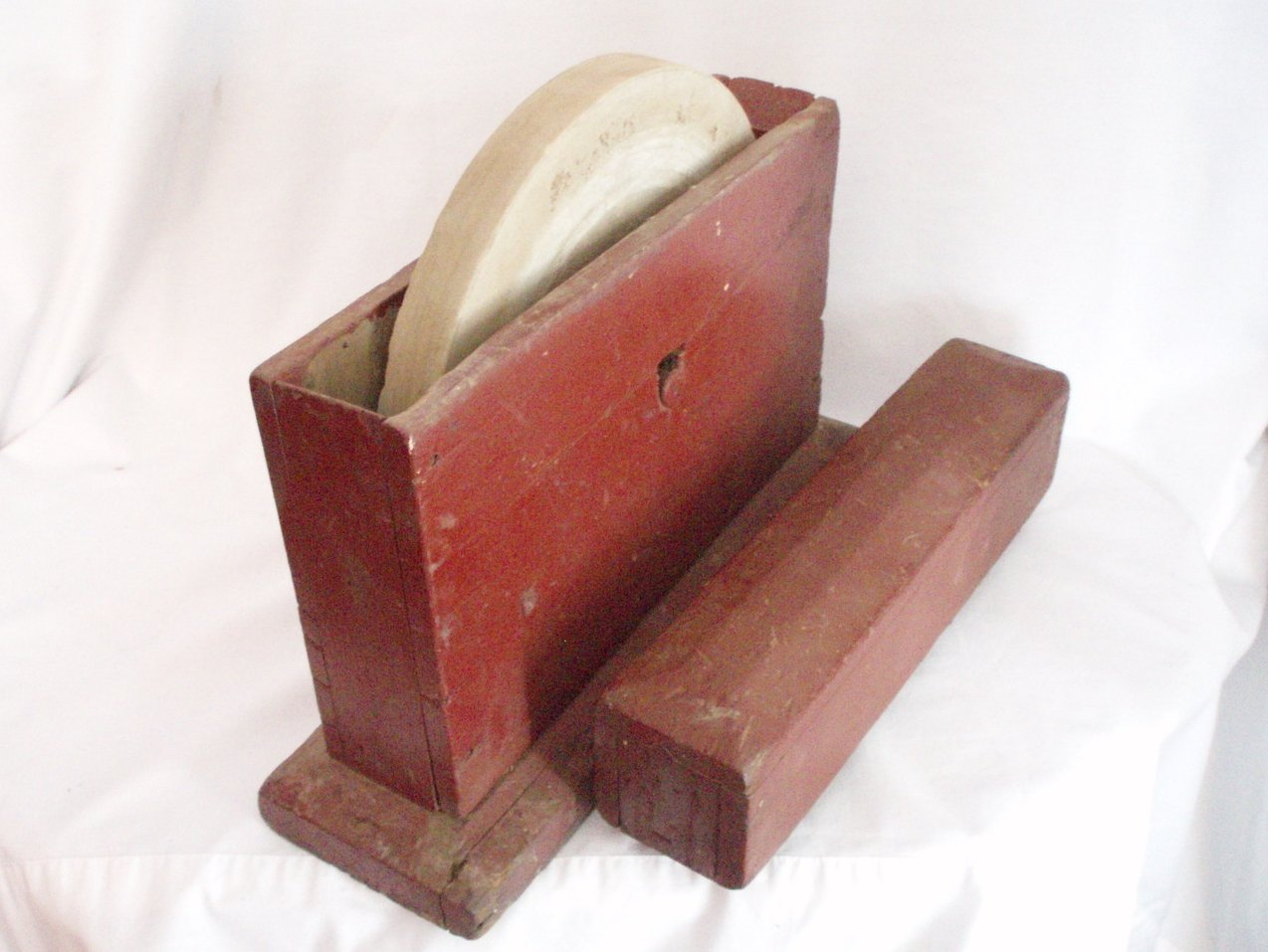 Image 2 of Primitive Grindstone hand cranked wood box Antique Tool