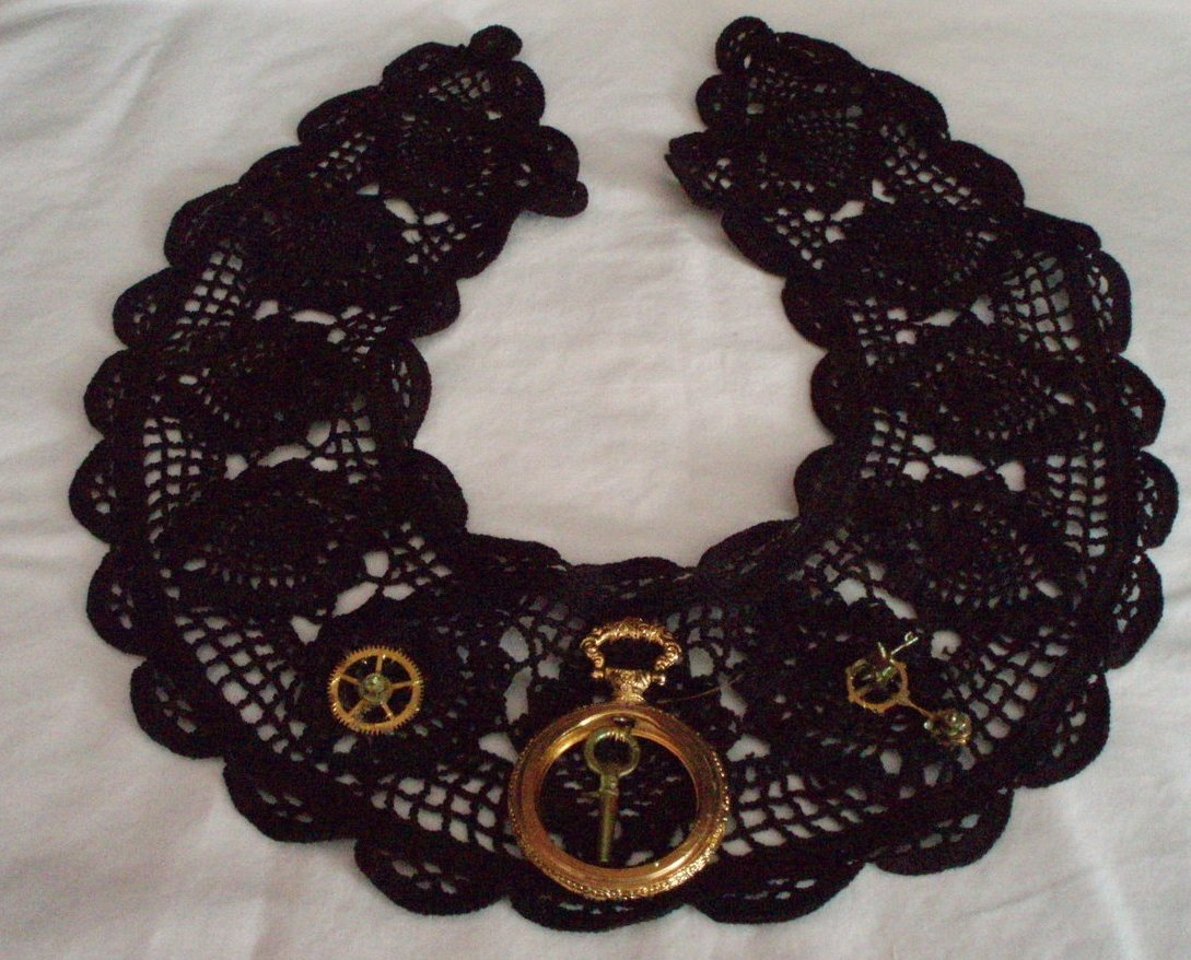 Steampunk Gothic accessory collar jewelry decor handmade