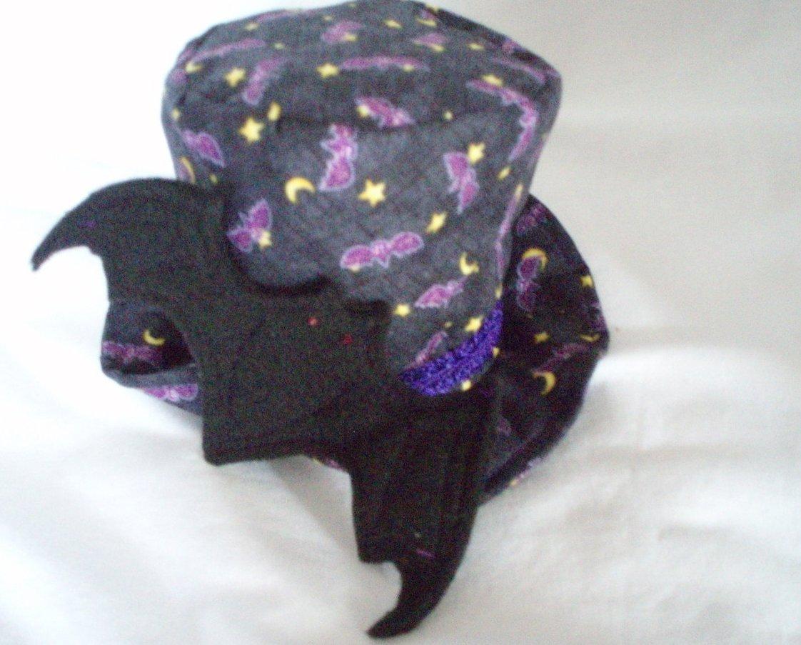 Gothic steampunk mini top hat Halloween bats vampire