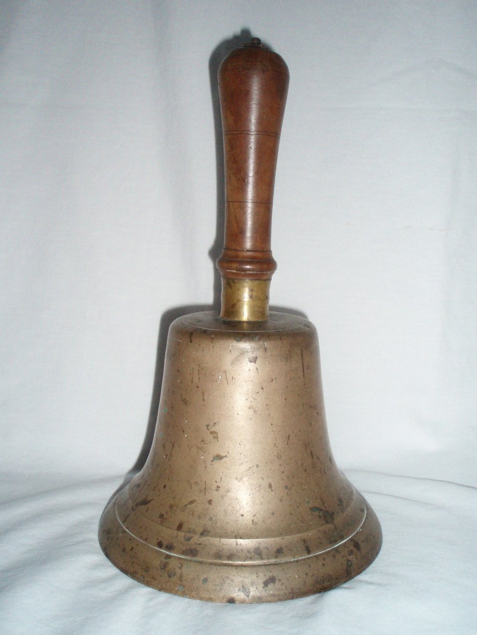 Antique large brass school bell