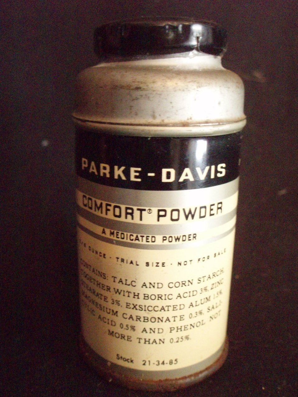 antique Parke Davis medicated powder tin vintage