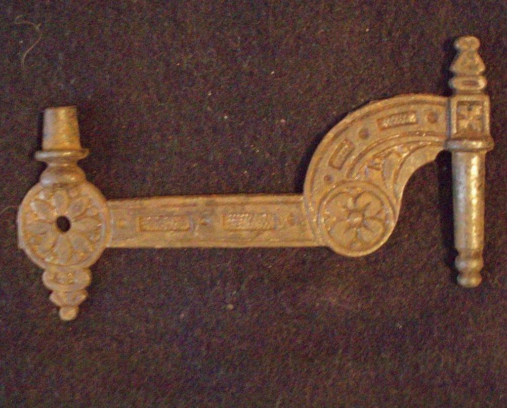 antique arm hardware oil lamp holder Eastlake style