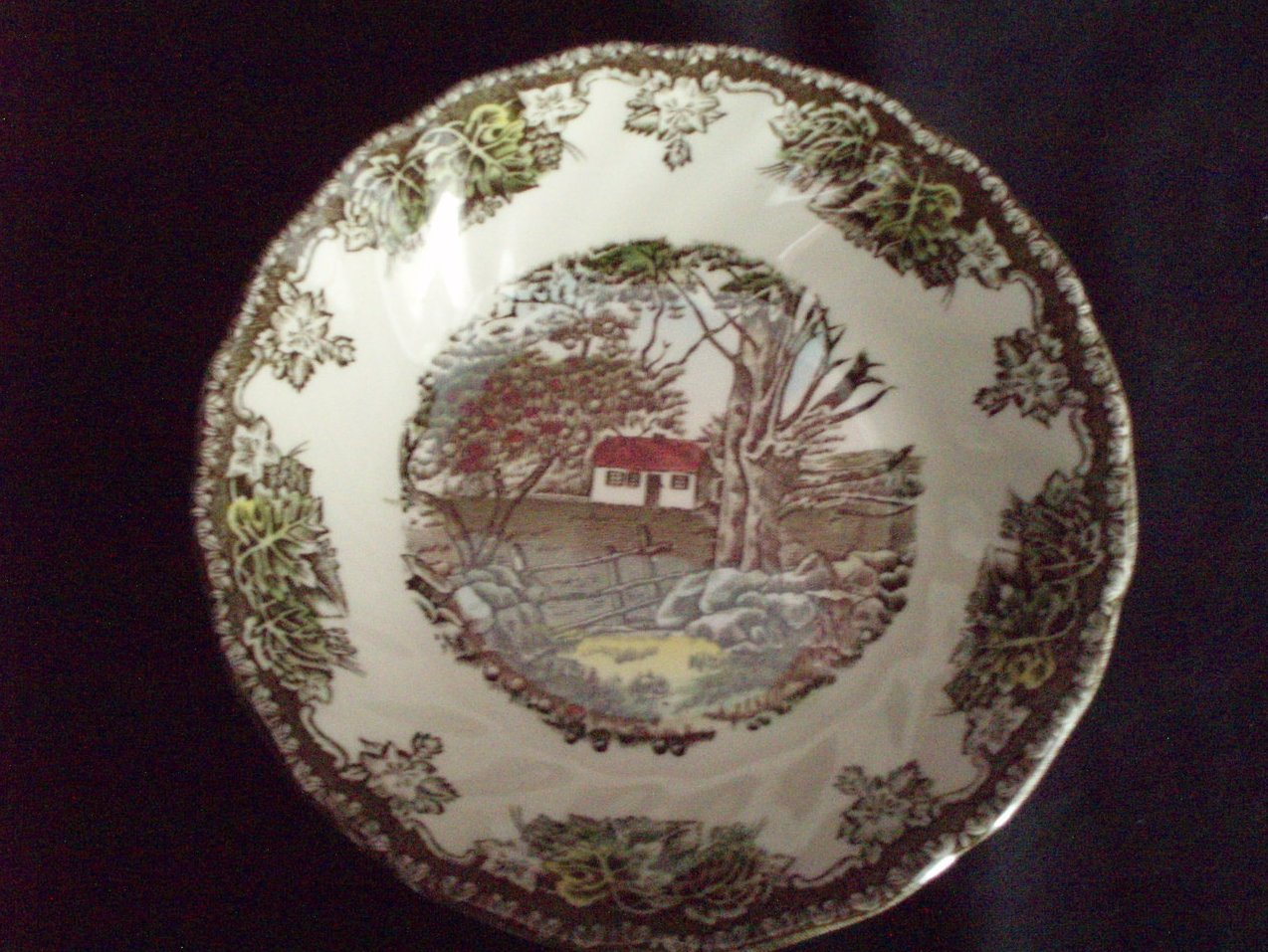 Image 0 of Johnson Bros Friendly Village dessert berry bowl Stone Wall