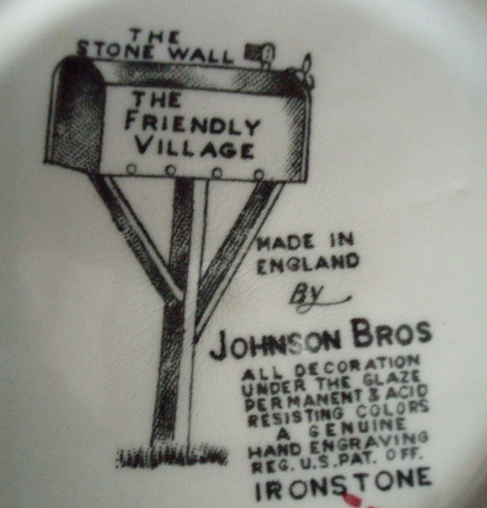 Image 3 of Johnson Bros Friendly Village dessert berry bowl Stone Wall
