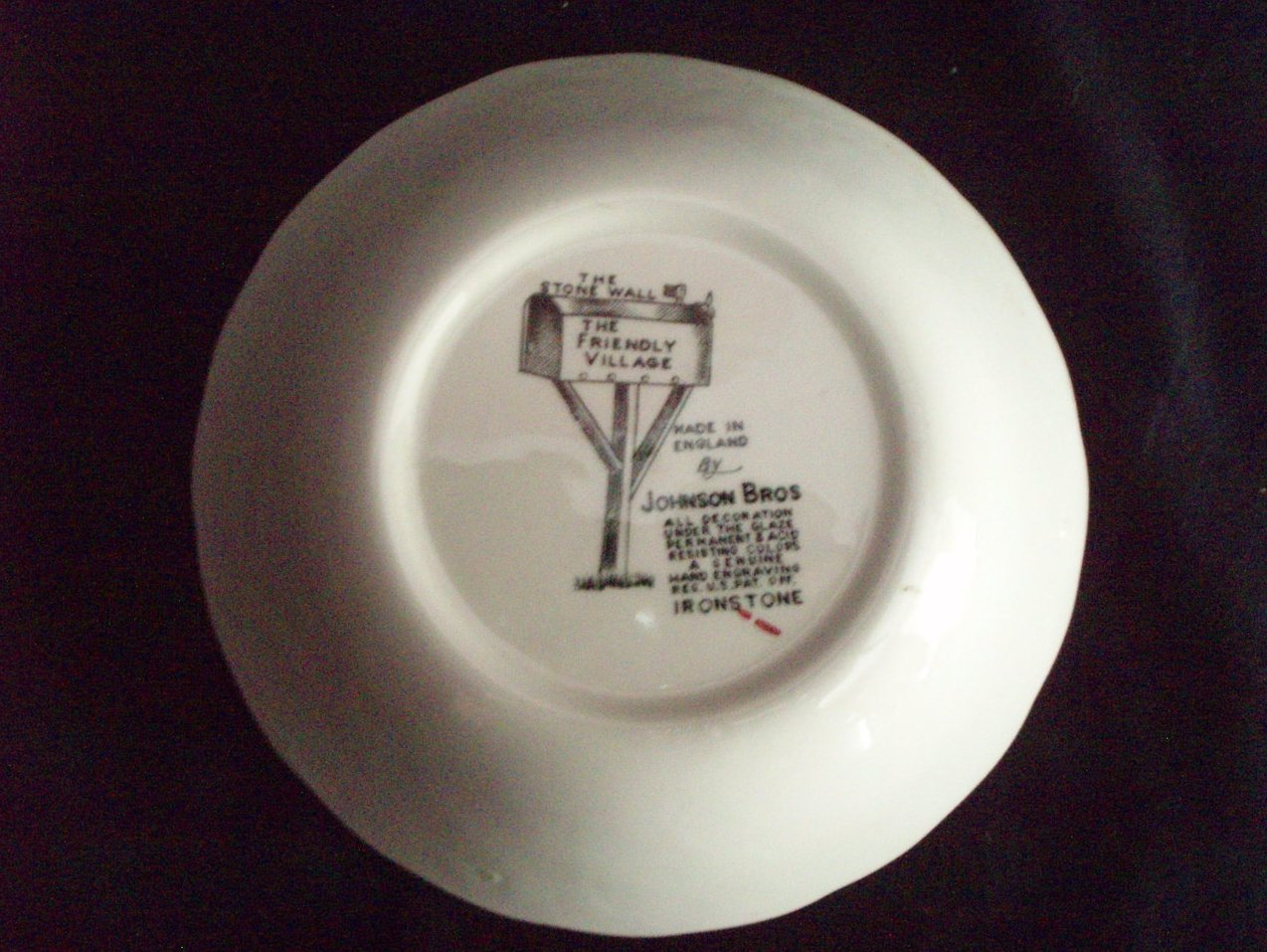 Image 4 of Johnson Bros Friendly Village dessert berry bowl Stone Wall
