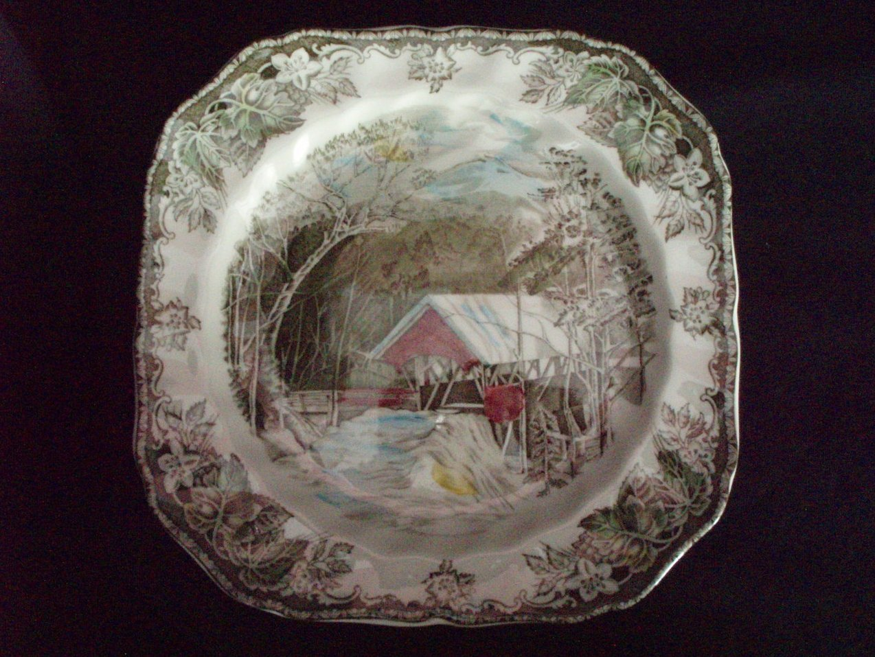 Johnson Brothers Friendly Village Salad Square Lunch Plates