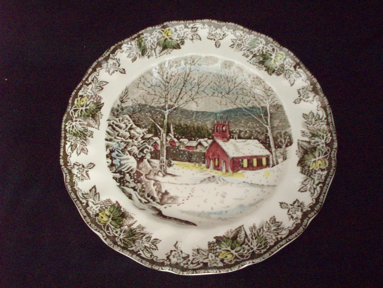 Image 0 of Johnson Brothers Friendly Village Dinner plate Schoolhouse