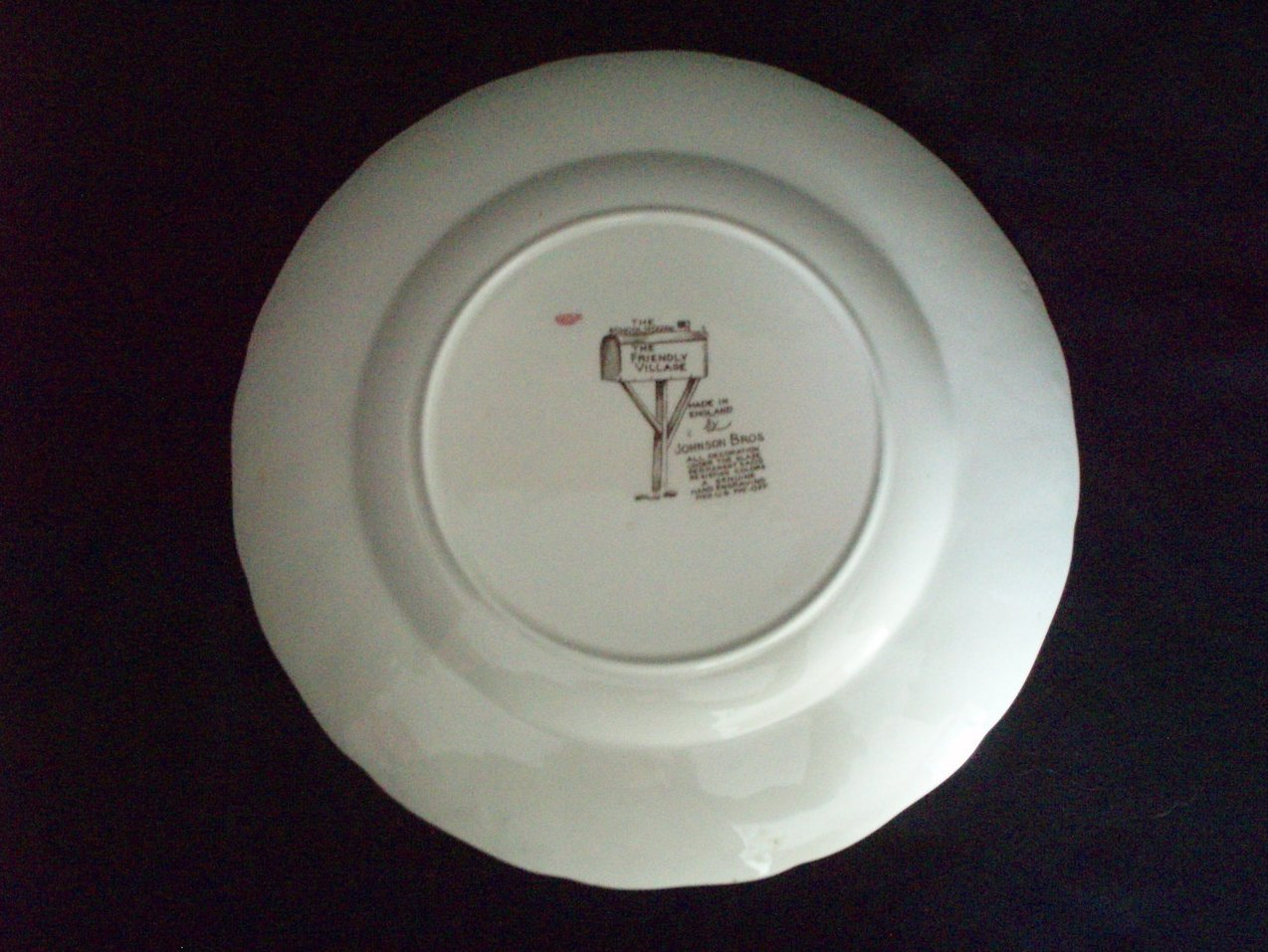 Image 2 of Johnson Brothers Friendly Village Dinner plate Schoolhouse