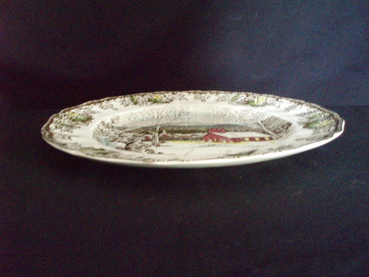 Image 4 of Johnson Brothers Friendly Village Dinner plate Schoolhouse