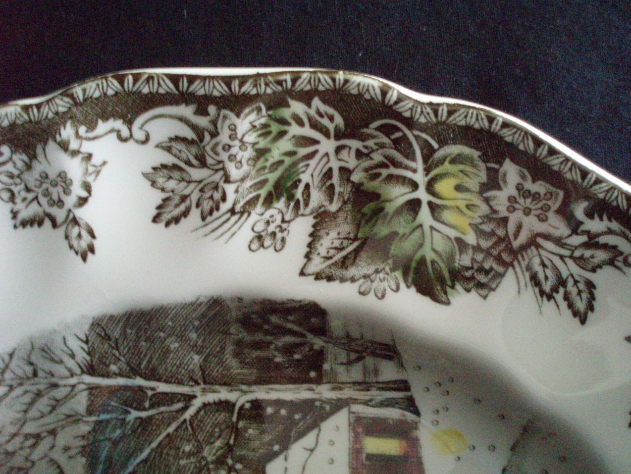 Image 5 of Johnson Brothers Friendly Village Dinner plate Schoolhouse