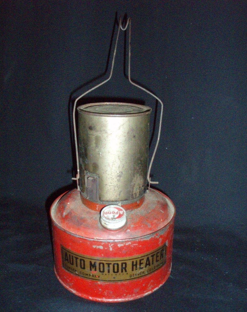 Antique Auto Engine Heater Bunsen Vintage Car