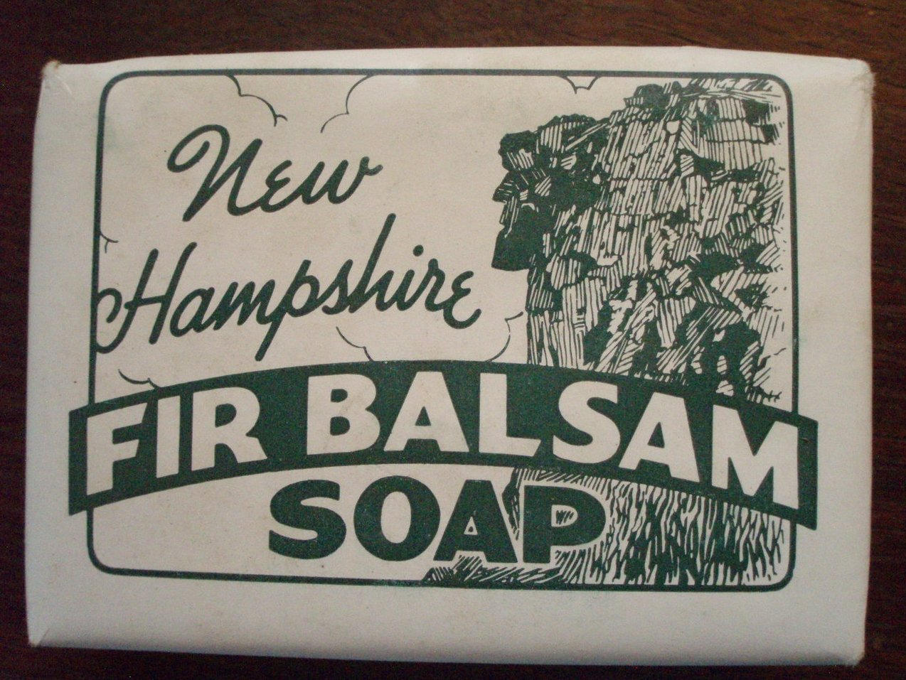 NH Fir Balsam Soap Old Man of Mountains Advertise vintage